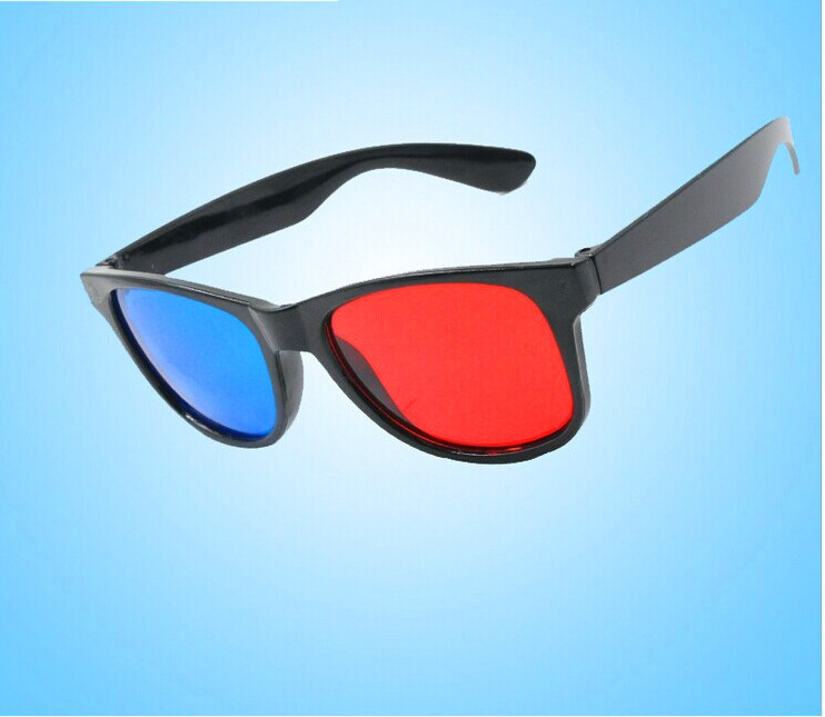 Woxo Wholesale Plastic Virtual Movie Watching Or Playing Cyan Red/Blue Lens 3D Glasses
