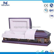 18 gauge purple metal funeral caskets(YXZ-1806)