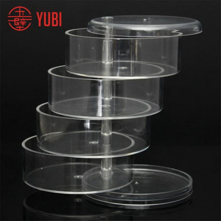 Fashionable professional rotating cosmetic acrylic display trays