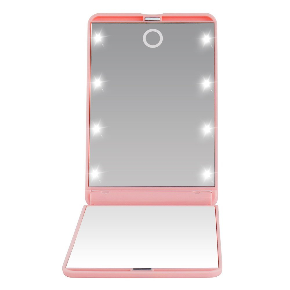 2016 Distressed Hotel LED Standing Lighted Nursing Mirror Makeup With Sensor Switch