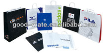 Portable Paper Bag with Handles / Customized Brand Product Bag