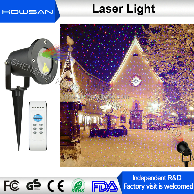 Red Green Blue 3 Color Outdoor 8 Pattern Laser Word Lighting for Christmas Halloween Party