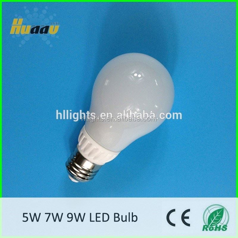 Ceramic body PC cover A60 led bulb 7w equal to 14w cfl 60w incandescent