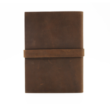 2017 custom vintage leather notebook with Kraft paper