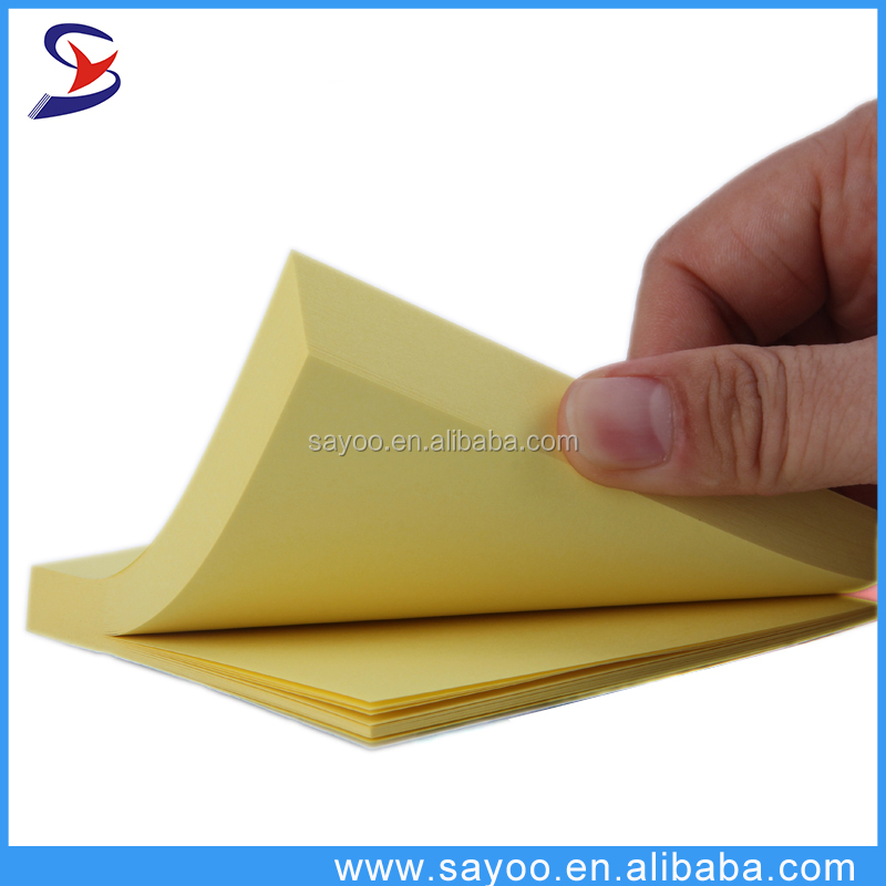 Die-cut self adhesive sticky note pad cheap custom notepad sticky memo pad