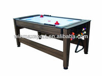 In stock 2 in 1 air hockey table with pool table/wooden air hockey table