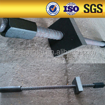 High yield strength threaded rod for post tensioning system