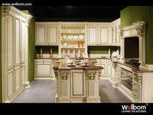 2014 Lastest Shabby Chic Solid Wood Kitchen Cabinet/Kitchen Pantry Unites