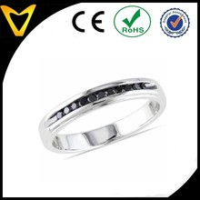 New 2015 Fine Women's Black Diamond Stainless Steel Rings,black river steel rings
