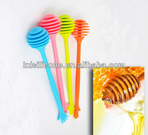 Food grade Silicone pinecone honey dipper LFGB& FDA approved