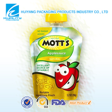 TOP QUALITY Safety Food Grade Gravure printed food plastic juice packet with spout