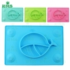 Wholesale silicone dinner place mat silicone baby plate placemat silicon mat food grade