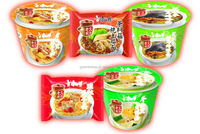 good taste and different flavors instant noodle cake with seasoning /quick cooking instant noodle in bag and cup