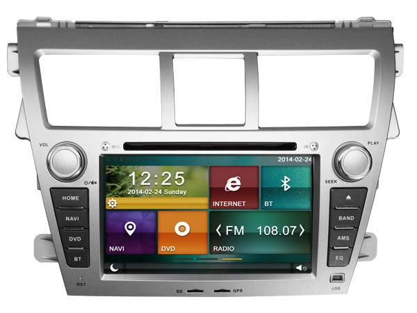 Cheap 2 din car radio dvd player with gps for TOYOTA VIOS
