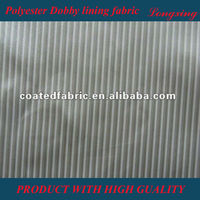 100 Polyester Taffeta Lining Fabric For