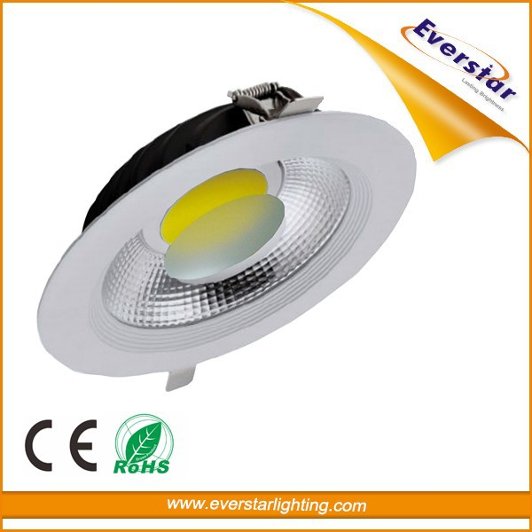 Recessed Aluminum Dimmable COB 90 Degree 8 Inch LED Downlight 30W