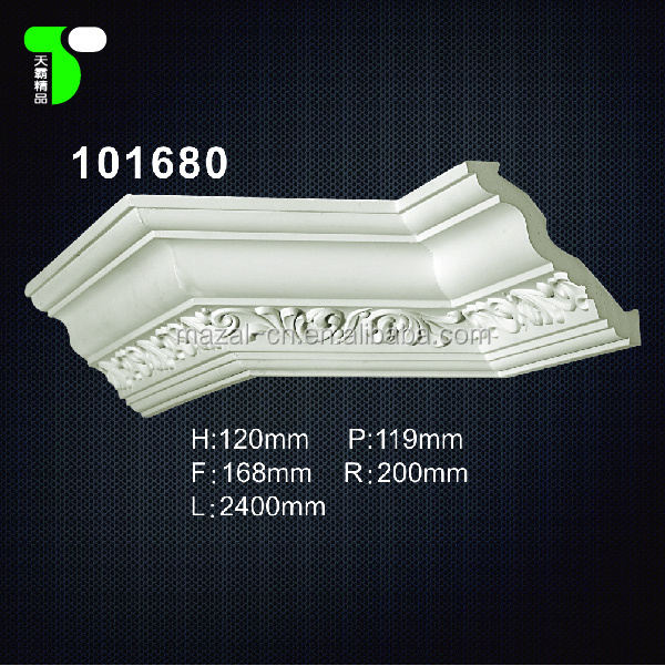 pop pu gypsum ceiling crown moulding for home interior decor