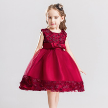 2018 Cheap children clothes kids wedding party dresses for flower girl frock suits