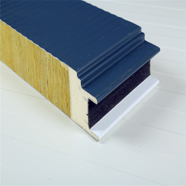 Low Cost Fireproof Wall Panel For Insulated Rockwool Sandwich Panels