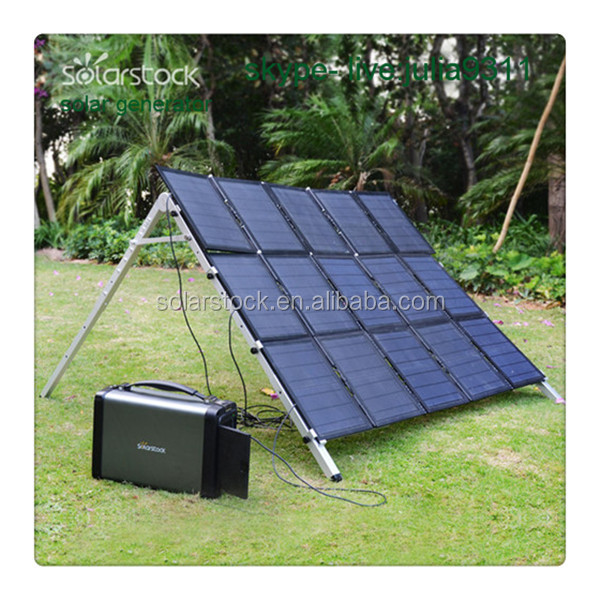 500W Portable Alternative Energy Generator with 600wh Lithium Battery