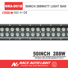 4X4 Accessory 50inch 288 Walt Black Straight Flood Spot Combo 12 Volt Led Lights Led Light Bar For Toyota Tundra 2007