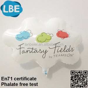 New customize cloud shape floating color balloon