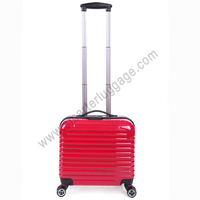 Red sharp design ABS+PC material, abs laptop trolley luggage bag