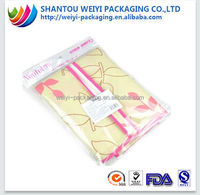 Opp clear self adhesive seal plastic bag for clothing