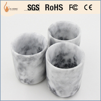 wholesale hotel decorative marble candle jar