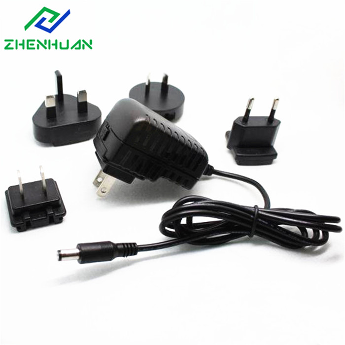 AC Interchangeable 24V dc 500mA 1A 1.5A 2A 2.5A Power Adapter With Multiple Plug EU US AU UK CN