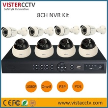 China Factory!Best Sale ONVIF 2.0M 8CH POE NVR KIT/HD Indoor&Outdoor 1080P IP CCTV Camera Kit,IP Camera P2P Home Security System