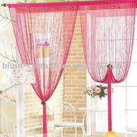 Red color string door curtain
