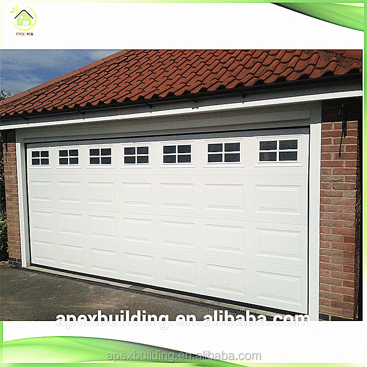 Cheap galvanized sheet metal garage doors wholesale