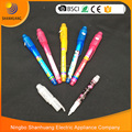 Good for children promotion pen spy invisible ink pen with uv light UV Pen