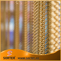 Flexible metal mesh curtain wire mesh room divider for hotel ceiling