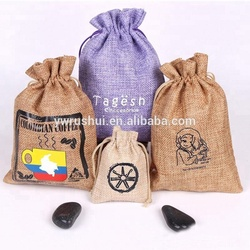 Alibaba China Gold Supplier Trade Assurance Jute Drawstring Bag with Custom Size and Color, Jute Bags, Jute Gift Bags