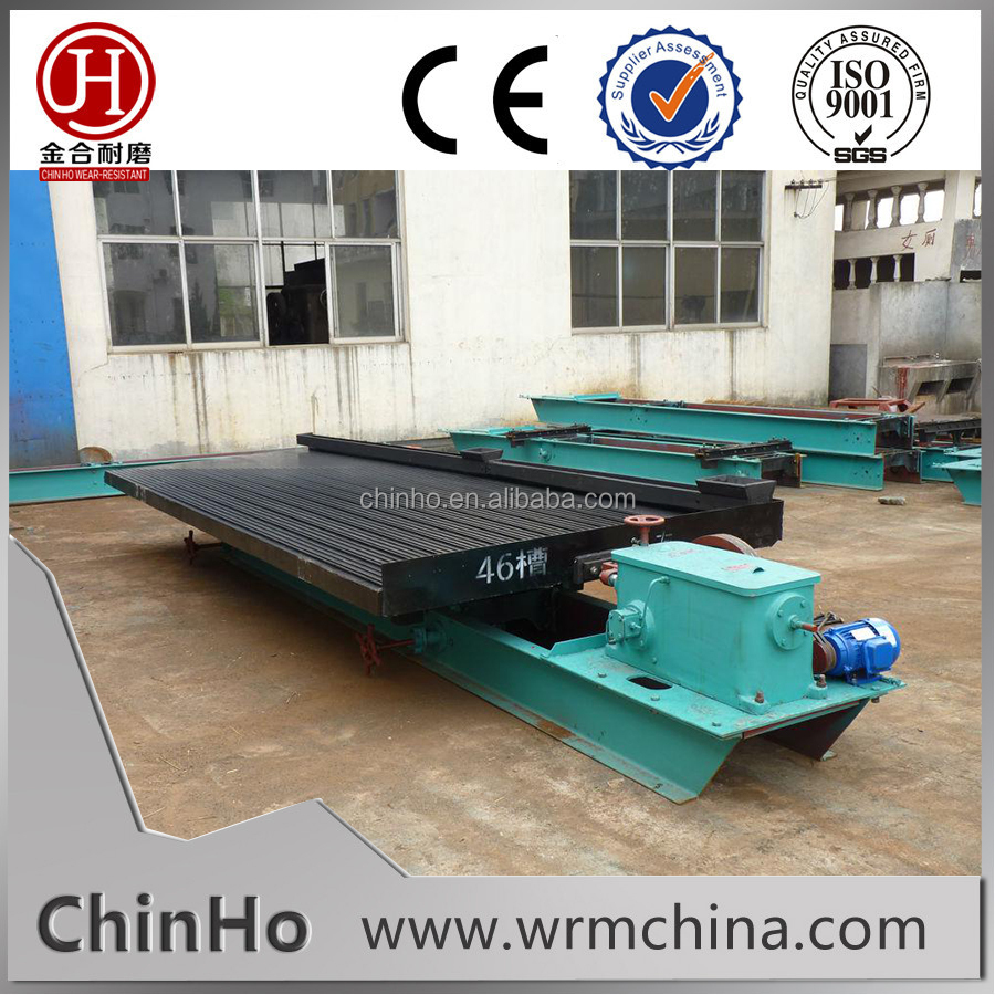 Gold Separating Equipment Mineral Processing Shaking Table with High Efficiency