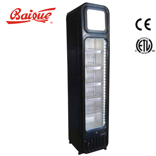 104cans/8.3oz capacity fancy slim upright showcase cooler for promotion super markets Refrigeration Equipment