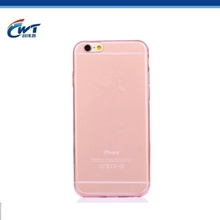Transparent mobile phone cover crystal clear soft thin case for iphone