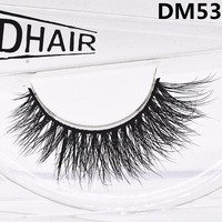 Invisible band waterproof 3D mink eyelashes and custom package silk lash / eyelashes for sale