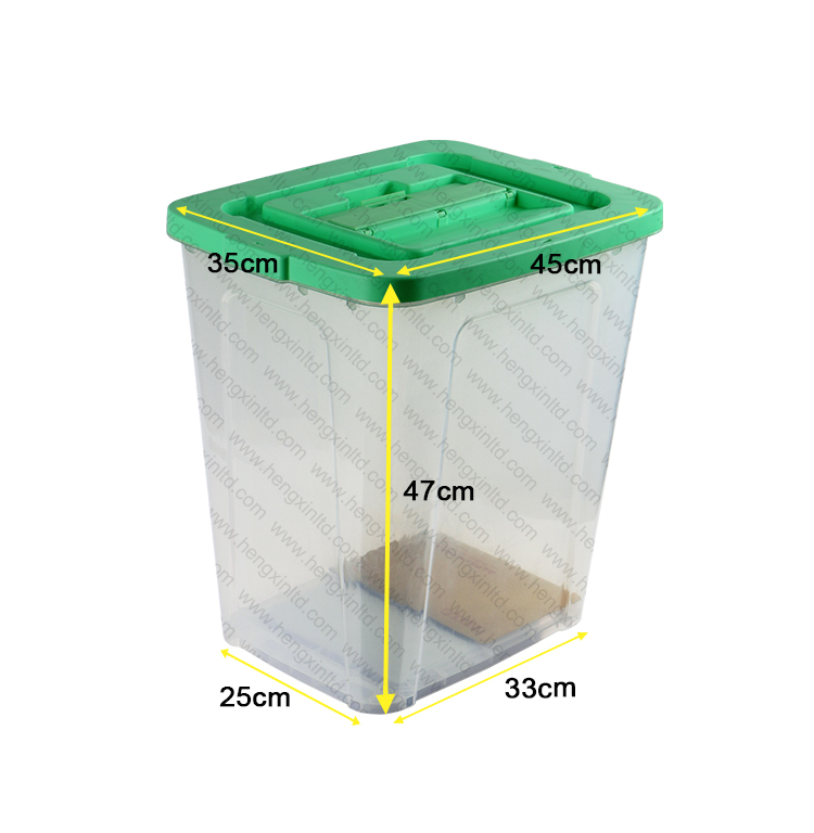 Transparent ballot boxes Plastic Storage ballot Box With Wheels/ Eleciton ballot box