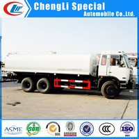 Dongfeng mobile watering bowser, 20000L watering cart, 10 tires water tank truck for sale