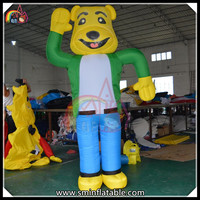 Hot Selling Inflatale Funny Bear Cartoon Character Outdoor Activity Toy
