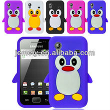 Genuine Penguin Soft Silicone Case for samsung galaxy ace s5830
