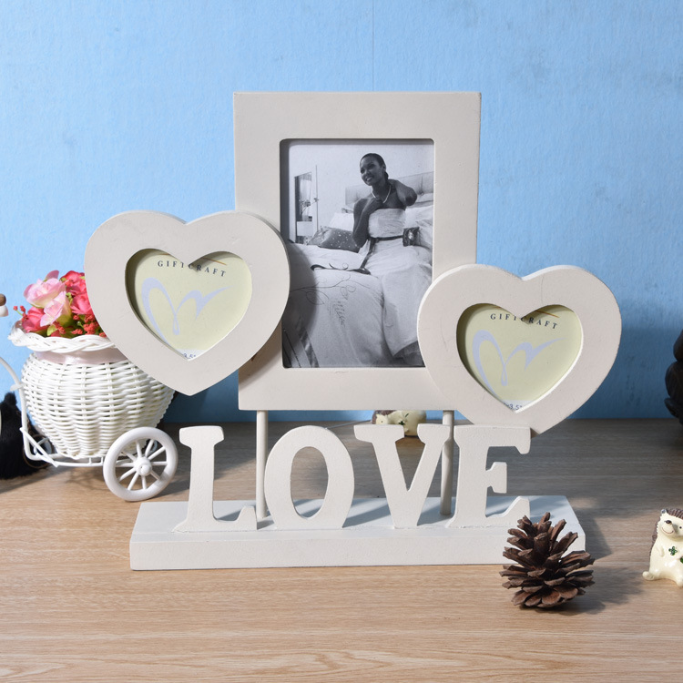 Modern design word letters decor love pure white Mother's Day Saint Valentine's Day combination wooden picture frame