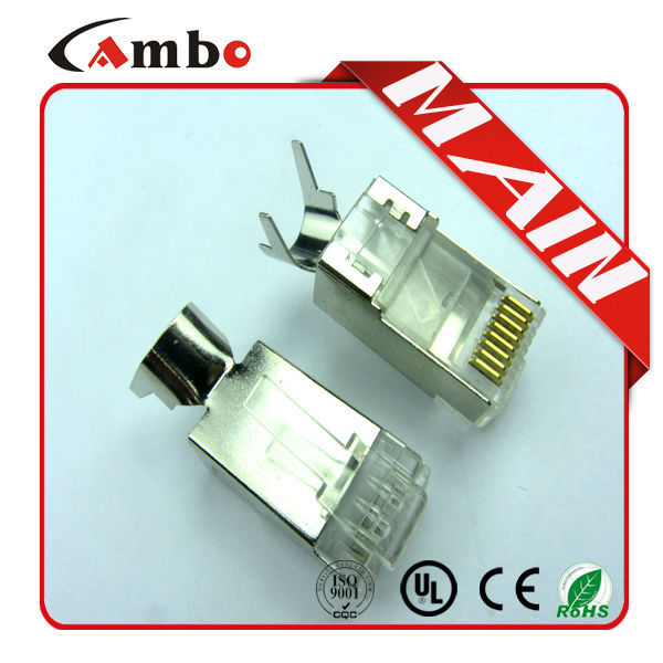 High performance CAT5E/CAT6 Stranded Solid network cable 8P8C unshielded/shielded Gold Plated siemens rj45 connector