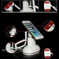 Desktop Open Exhibition Cell Phone Anti Lost Alarm Security Display Stand with charging