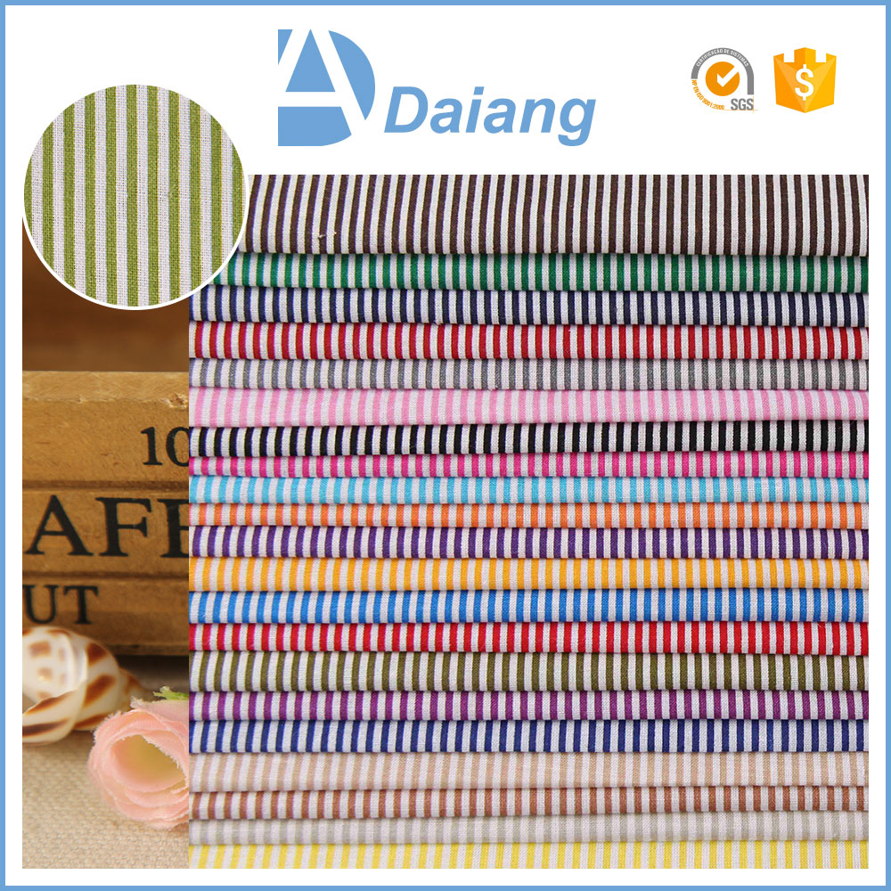 Factory stripe calico print woven stock fabric