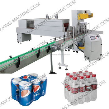 automatic wrapping machine/packing machine for pet bottles