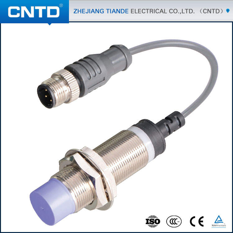 CNTD M18 Cylindrical Cable Connector Type NPN NO Proximity <strong>Sensors</strong> (CJY18S-15NAR)